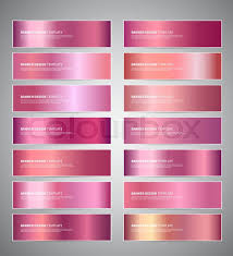 Set Of Rose Gold Or Shiny Pink Stock Vector Colourbox
