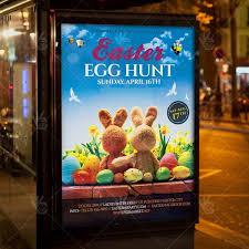 Easter Egg Hunt Party Premium Flyer Psd Template Psdmarket