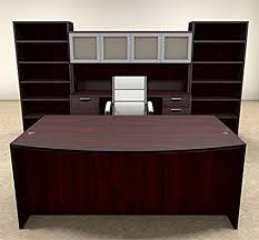 executive office desk front. Interesting Executive 8pc Fan Front Modern Executive Office Desk Set OTSULD19 Throughout I