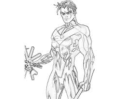 batman and nightwing coloring pages
