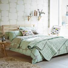 lohko mint patterned bedding