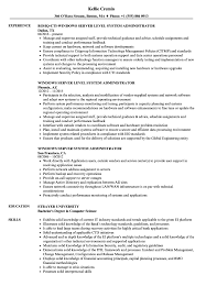 Server System Administrator Resume Samples Velvet Jobs