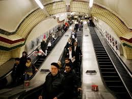 people on escalators. people on escalators