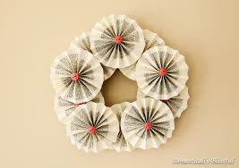 book papers wreath