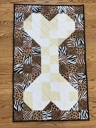 Dog Bone Quilting Design Dog Quilt Blanket Bone Pattern Paw Pattern On Back By