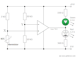 Op Amp Comparator Op Amp Comparator With Ntc Driving Led Lights