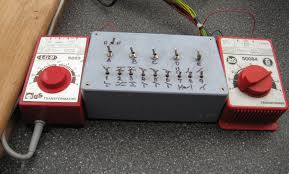the trackplan was separated into five electrically isolated sections switches a e and all nine points were operated by point motors using two way