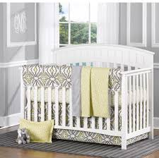 Gray and Yellow Eden 4 Piece Crib Bedding Set Twinkle Twinkle