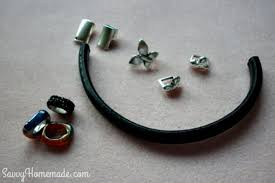 supplies for makinkg a licorice leather bracelet