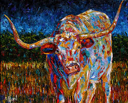 longhorn painting cattle art texas longhorn paintings by debra hurd