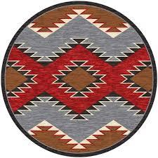 heritage southwestern rug 8 ft round
