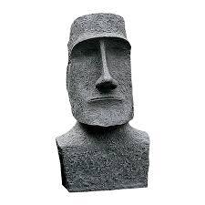 design toscano easter island moai monolith 24 5 in tiki garden statue