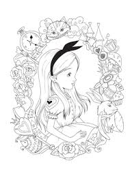 Adult Colouring Page Alice In Wonderland By Charlottethomsonart
