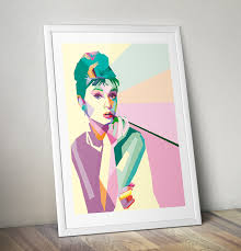 audrey hepburn pop art painting on hand painted canvas wall art uk with audrey hepburn pop art painting pop art gifts pop art shop