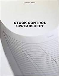 Stock Control Spreadsheet Track Inventory Level Inventory