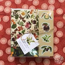 the design for this note card set is a pattern posed of philippine fruits that i remember eating as a kid atis macopa ramn chesa duhat mabolo
