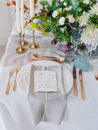 dreamy wedding inspiration in ireland · ruffled Wedding Inspiration Ireland place settings photo by darcy benincosa photography s ruffledblog com Ireland Cliff Wedding