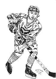Pentekening Van Een Ijshockeyer Getekend Door Brigit Weeda