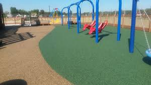 playground surfacing with poured in place rubber