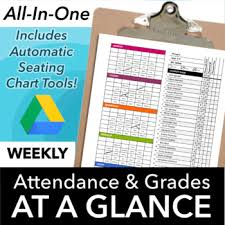 Google Classroom Seating Chart Classroom Seating Chart Attendance And Grade Sheet Template For Google Drive