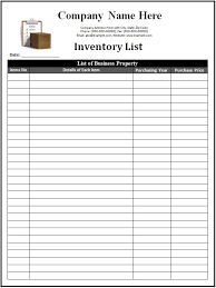 Format For Inventory List Contractor Bill Format In Excel Free Printable Template Samples