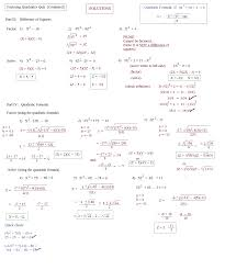 factoring quadratic equations review worksheet tessshlo