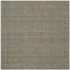 natural fiber gray 7 ft x 7 ft square area rug