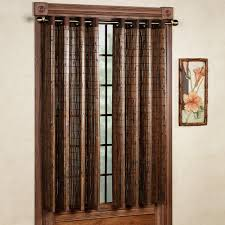 image of bamboo curtains panels