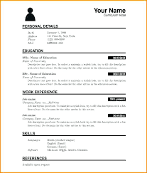 Free Blank Resume Templates Download Inspiration Download Blank Resume Form For Resume Resume Sample Blank Form Free