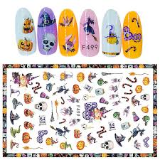 Santa Watermark Us 1 15 18 Off New Fashion Halloween Christmas Nail Stickers Watermark Santa Claus Nail Wraps Gel Polish Nail Art Decoration Manicure Tools In