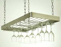 hanging wine glass rack stainless steel chrome ikea grundtal