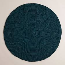 teal round braided jute area rug world market