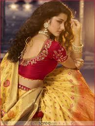 Designer Blouse Patterns For Pattu Sarees Red Silk Embroidered Deep Neck Back Blouse Design Pattu