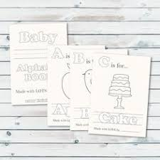 Small Picture Book Inspired Baby Shower Guests color a page for Babys First