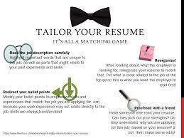 Tailor Your Resume Oakland University Career Services Gorgeous How To Tailor A Resume To A Job