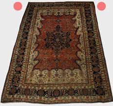 dark side of an oriental rug top further away