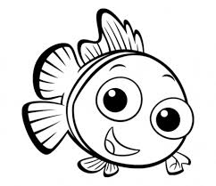 Small Picture Cartoon Coloring Pages Fish Coloring Pages