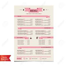 Cafe Menu Template Cafe Menu Template Design Illustration Royalty Free Cliparts 10