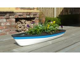 wooden boat wall planters designs