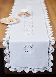 table runners lace and lace table
