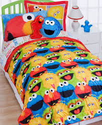 Sesame Street Bedroom Decorations Sesame Street Reversible Comforter Set Walmartcom