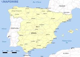free maps of spain – mapswirecom