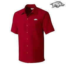 Arkansas Razorback Mens Solana Check Shirt By Cutter Buck