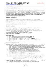 Sql Fresher Resume Sample Pl Sql Developer Resume Sample Savebtsaco 2