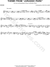 city of stars violin sheet music print and download theme from jurassic park sheet music from