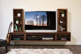 modern floating tv stand hanging wall mount entertainment center console eco geo mocha woodwaves x perfect
