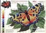 Схема вышивки крестом-бабочки