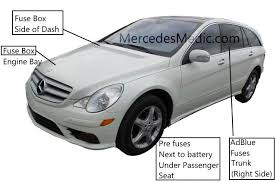 r class fuse 2006 2015 box location chart diagram w 251 r320 cdi r 320 bluetec r 350 r 500 r 63 amg r 300 cdi fuse