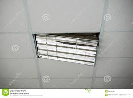The Construction Of The Ceiling A Broken Ceiling Lamp Stock Image