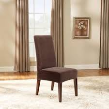 sure fit stretch pinstripe short dining room chair cover